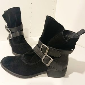 MIA Odetta Black Suede Leather Boots Booties